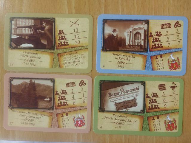karty z gry planszowej