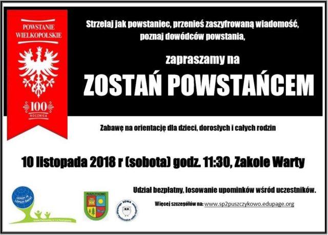 10 listopada, Bieg na orientację na Zakolu Warty w Puszczykowie