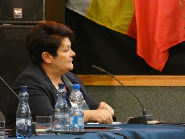 Małgorzata Kaptur - przewodnicząca Rady Miejskiej - Inauguracyjna sesja Rady Miejskiej