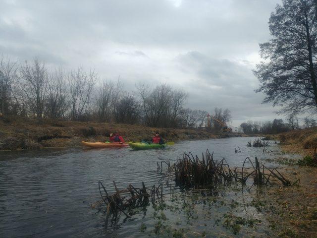 Grudniowy spływ Kanałem Mosińskim