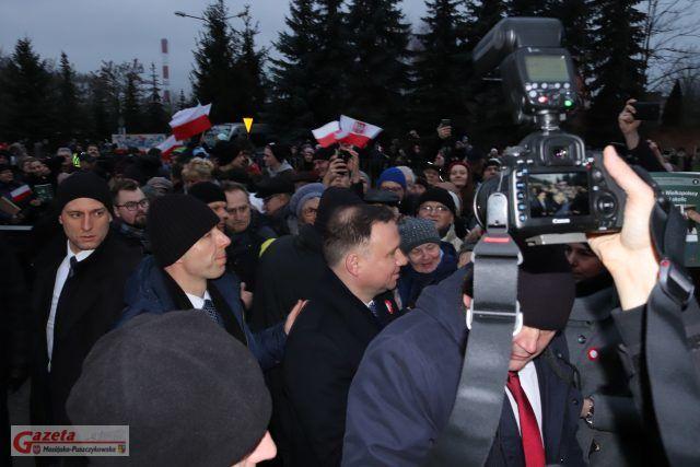 Prezydent RP Andrzej Duda z wizytą w Mosinie - uroczystości