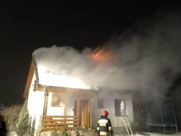 pożar we wsi Czołowo