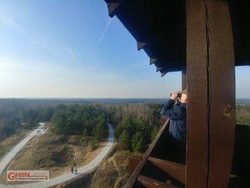 widok z więzy widokowej na Pożegowie