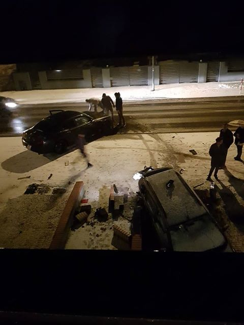 wypadek na ul. Strzeleckiej w Mosinie