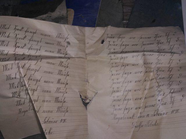 zeszyt uczniowski z 1898 r. - odnaleziony w Rogalinku
