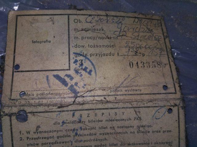 dawny bilet miesięczny PKS