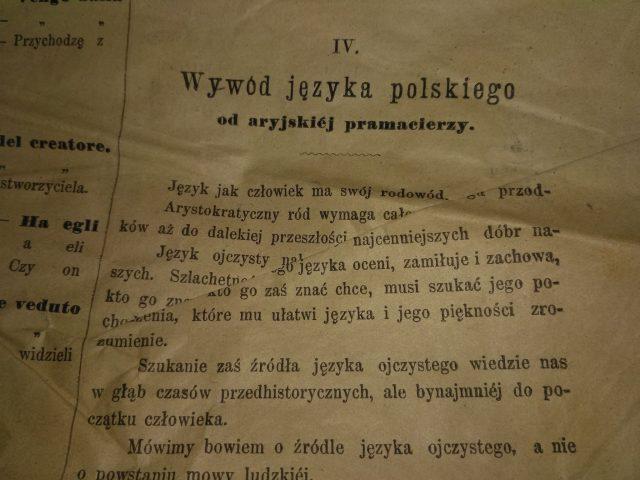 Wywód języka polskiego od aryjskiej pramacierzy