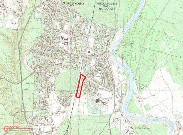 Puszczykowo - mapa planu