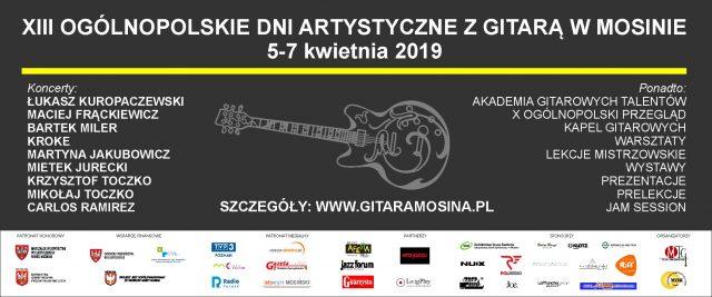 XIII Ogólnopolskie Dni Artystyczne z Gitarą w Mosinie 2019