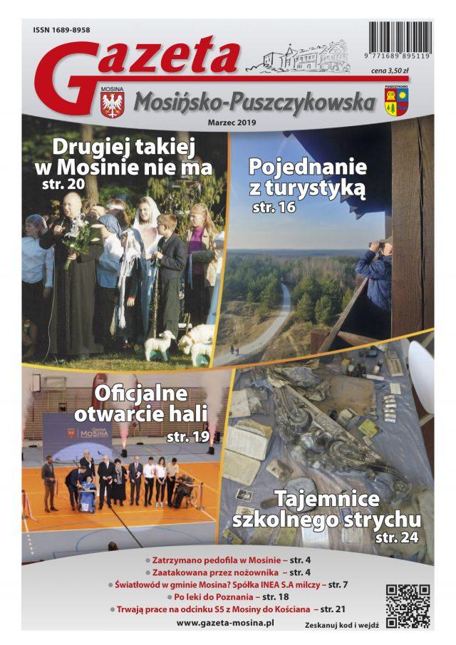 Gazeta Mosińsko-Puszczykowska - wydanie marzec 2019 (okładka)