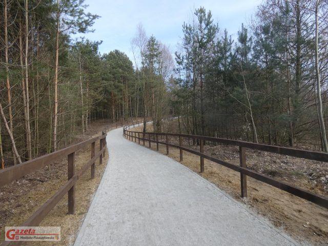 ścieżka pieszo-rowerowa na gliniankach w Mosine