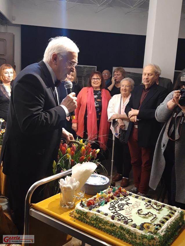 Jubileusz Michała Grudzińskiego zorganizowany w Galerii Sztuki w Mosinie fot. UM w Mosinie