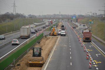 przygotowanie pod trzeci pas - autostrada A2