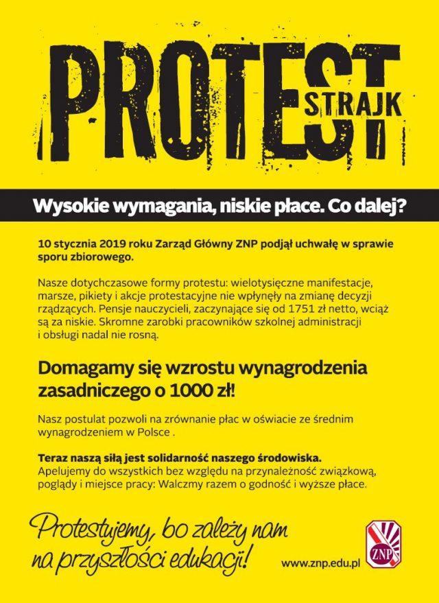 Ulotka ZNP Protest 2019