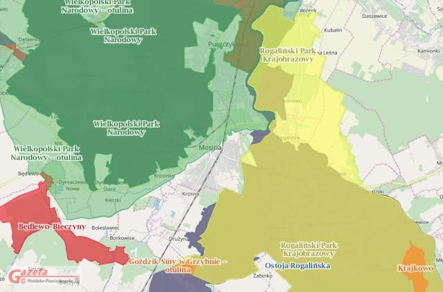 mapa turystyka w regionie WPN
