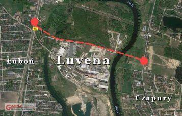 Most Luboń - Czapury - plan