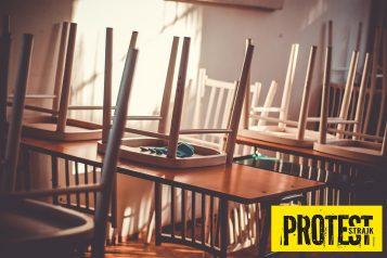 protest strajk nauczycieli