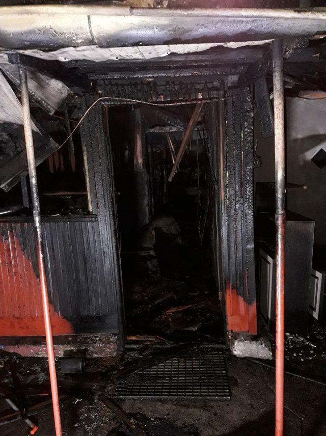 pożar w Rogalinku