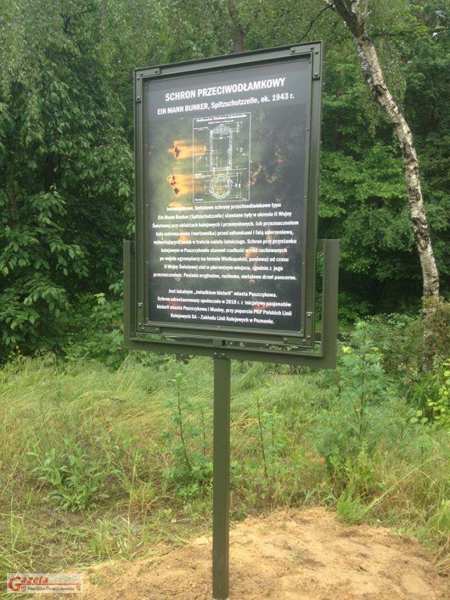 tablica informacyjna - schron przeciwodłamkowy Ein Mann Bunker