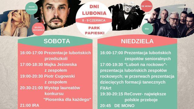 Dni Lubonia 2019 - szczegółowy program