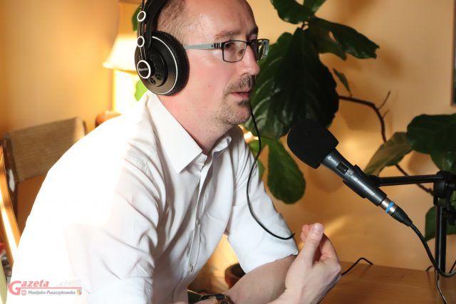 Marcin Ługawiak w Radio MPL - podczas audycji