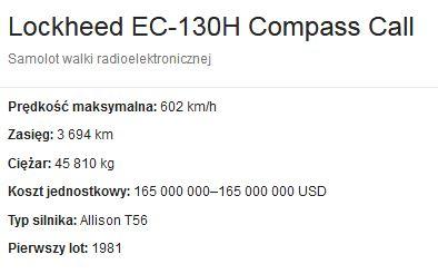 EC-130H Compass Call - dane techniczne