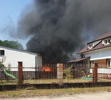 Pożar hali w Wiórku