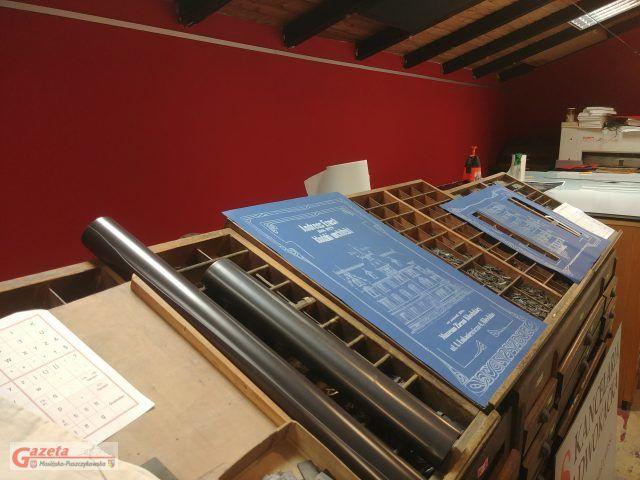 zabytkowa drukarnia w Puszczykowie - plakat dla Muzeum Ziemi Kłodzkiej