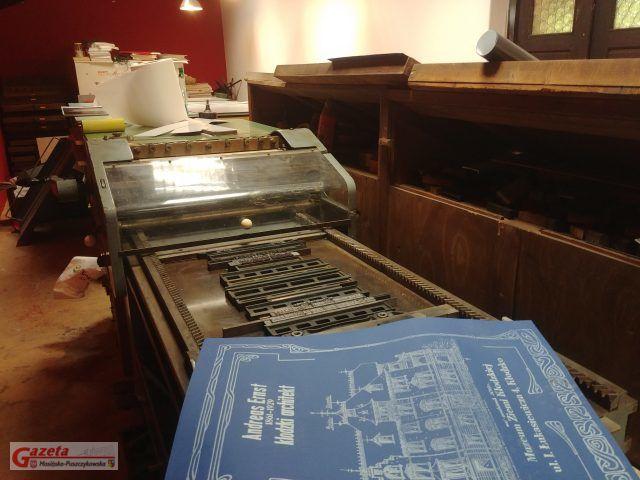 Zabytkowa drukarnia w Puszczykowie - w trakcie przygotowywania plakatów dla Muzeum Ziemi Kłodzkiej