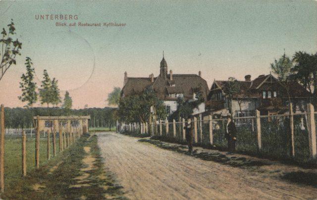 Mimoza w Puszczykowie na starej pocztówce