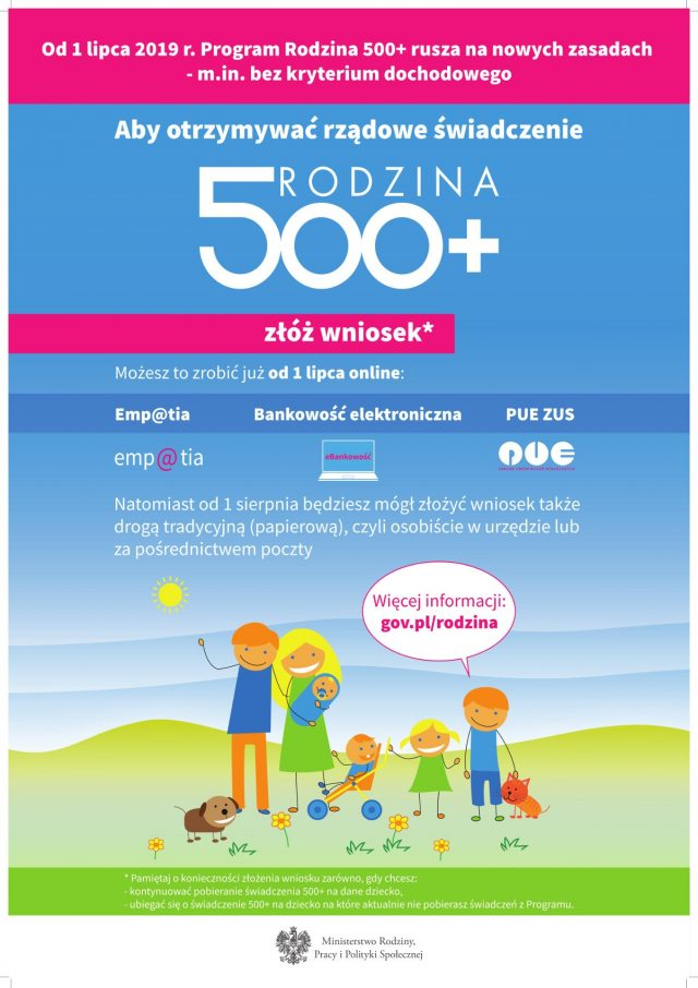plakat rodzina 500+