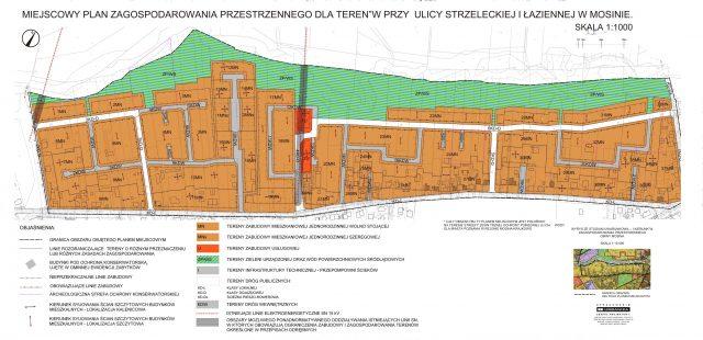 MPZP dla terenów ulicy Łaziennej i Strzeleckiej w Mosinie rysunek1