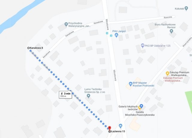 Mosina ulica Łazienna – Mapy Google
