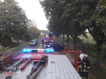 wypadek na trasie Mosina - Stęszew