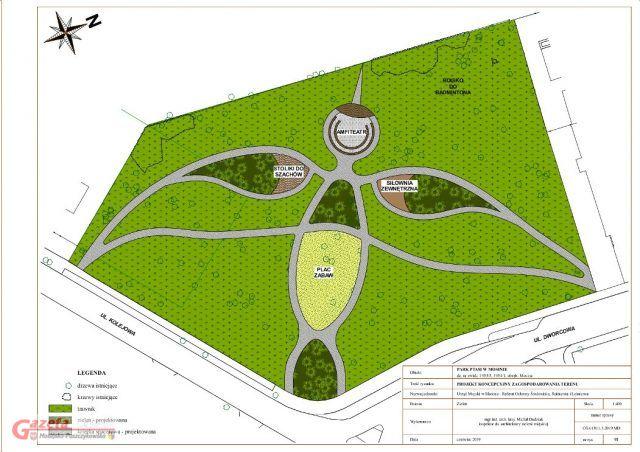 Ptasi Park w Mosinie - plan koncepcyjny