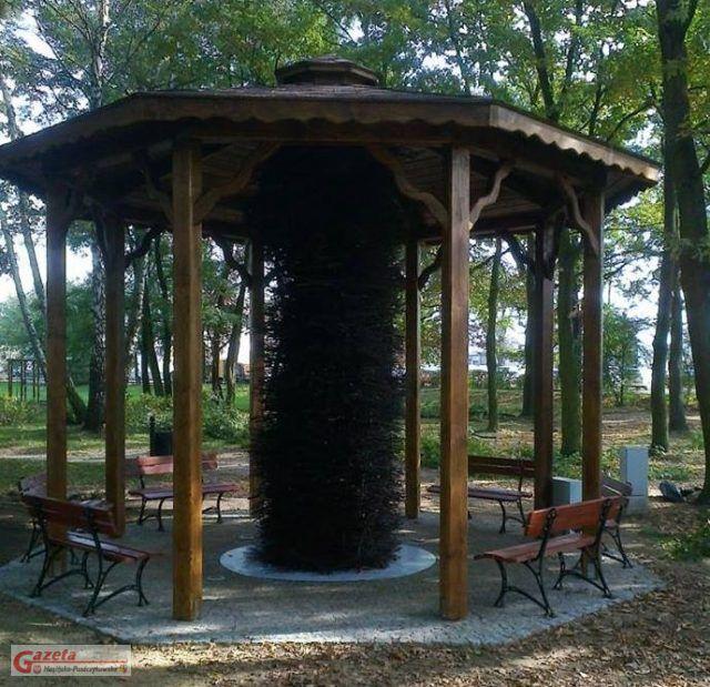 niedziałająca od lat tężnia solankowa w Ptasim Parku