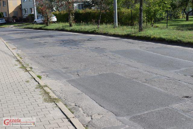 Mosina ulica Sowiniecka - stan nawierzchni