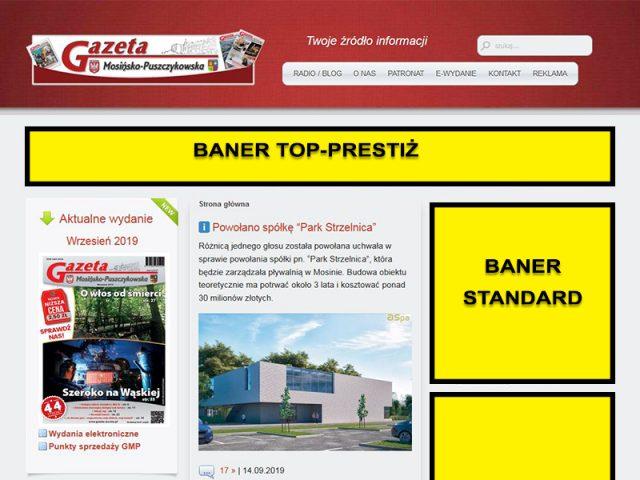 Rozmieszczenie banerów www