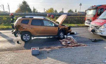 wypadek w Luboniu