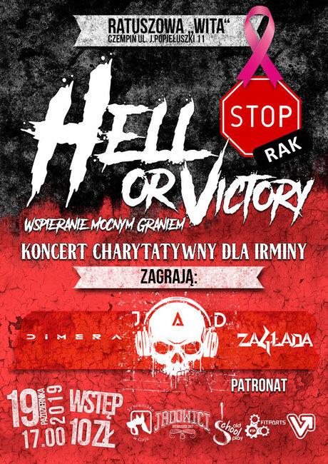 """""""Hell or Victory"""" czyli muzyczna walka z piekielną chorobą - STOP RAK! w Czempiniu - plakat"""
