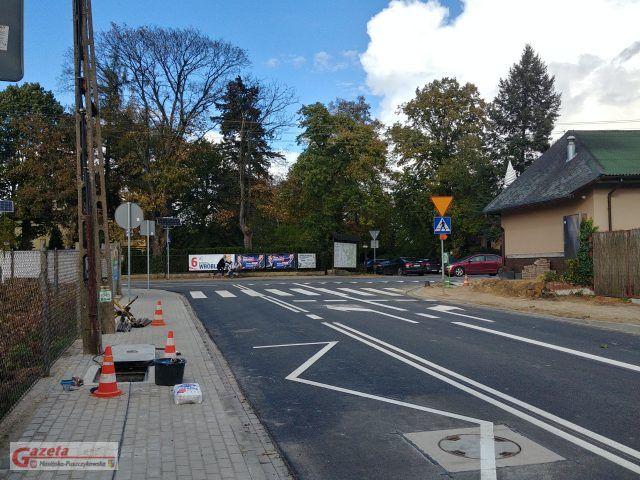ulica Moniuszki w Puszczykowie po modernizacji