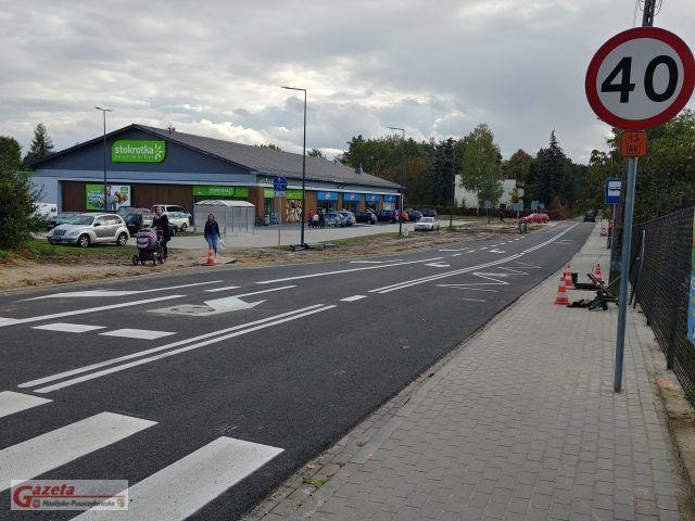 ulica Moniuszki w Puszczykowie - widok od strony Dworcowej