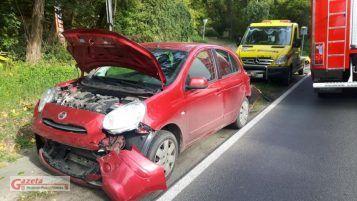 wypadek w Puszczykowie na ulicy Podgórnej
