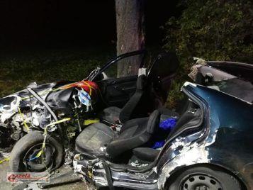 wypadek we wsi Modrze