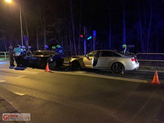 Wypadek Puszczykowo ul Wysoka a Jarosławska