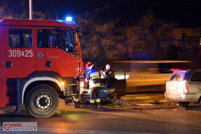 wypadek na skrzyżowaniu Mostowej i Śremskiej w Mosinie