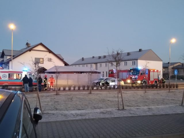 wypadek na ulicy Strzeleckiej w Mosinie