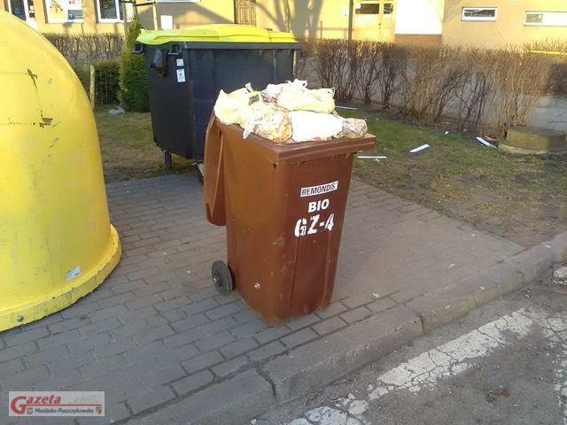 brązowy pojemnik na bioodpady