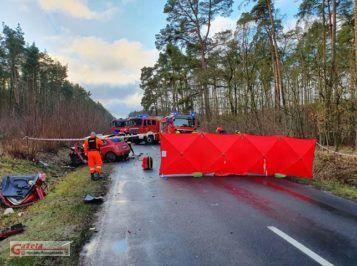 śmiertelny wypadek we wsi Wiórek