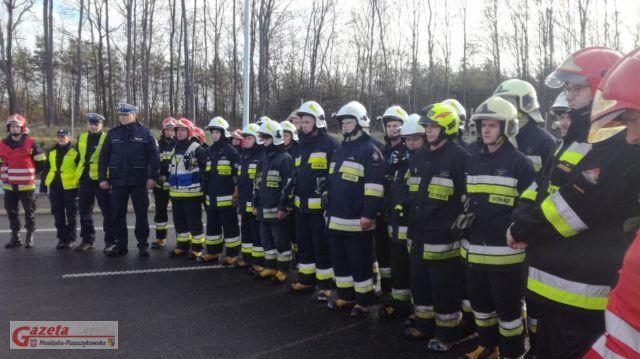 Ćwiczenia służb ratowniczych na zamkniętym jeszcze odcinku S5